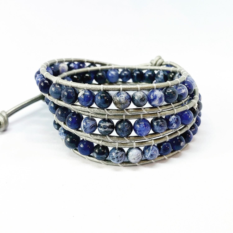 Sodalite Wrap Bracelet