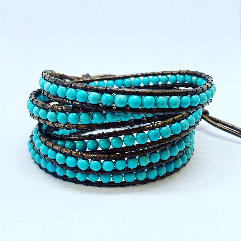 Magnesite Wrap Bracelet 5 Wrap