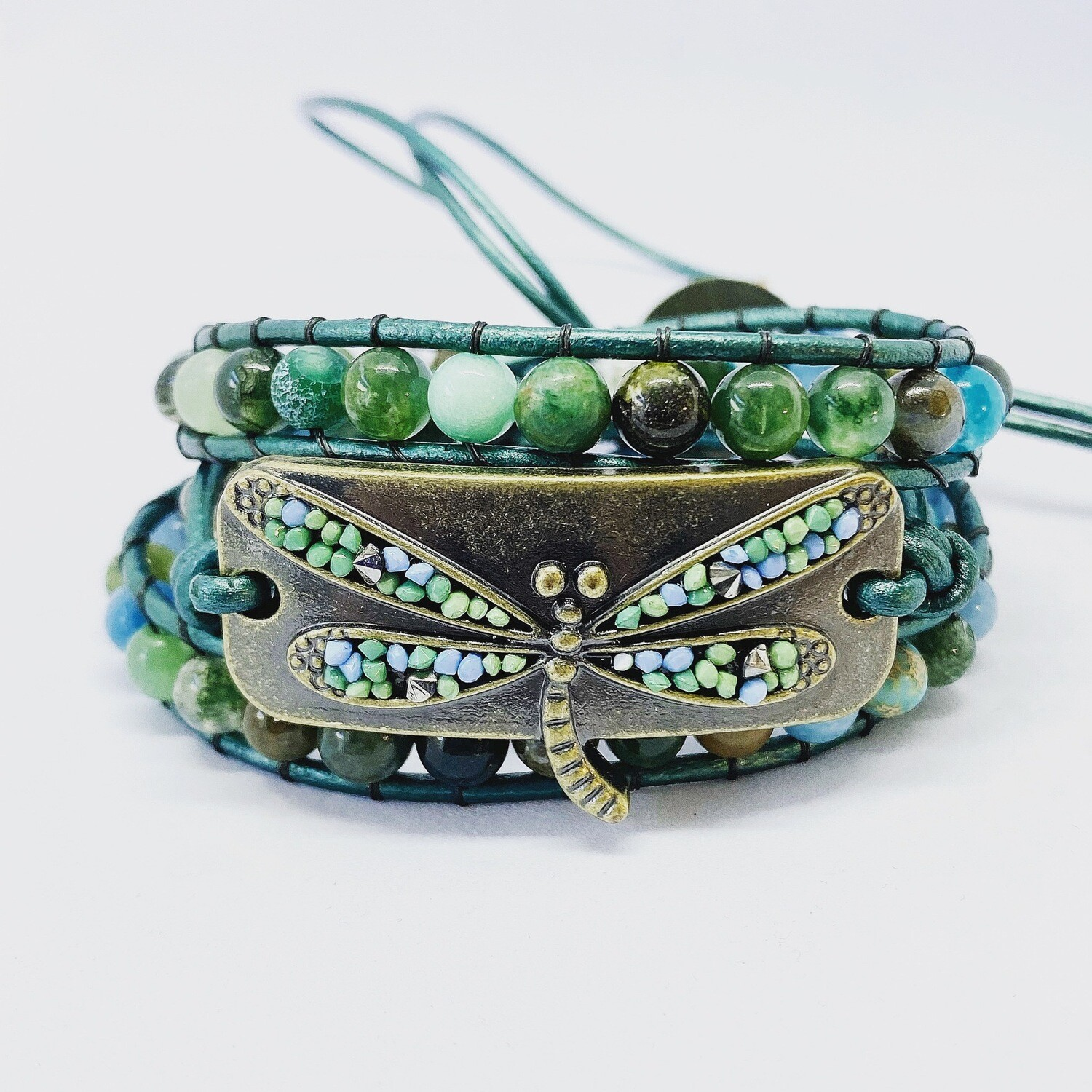 Dragon Fly Wrap Bracelet Fancy Jasper