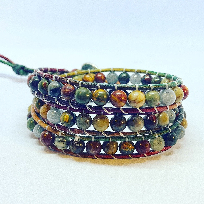 Bloodstone Wrap Bracelet