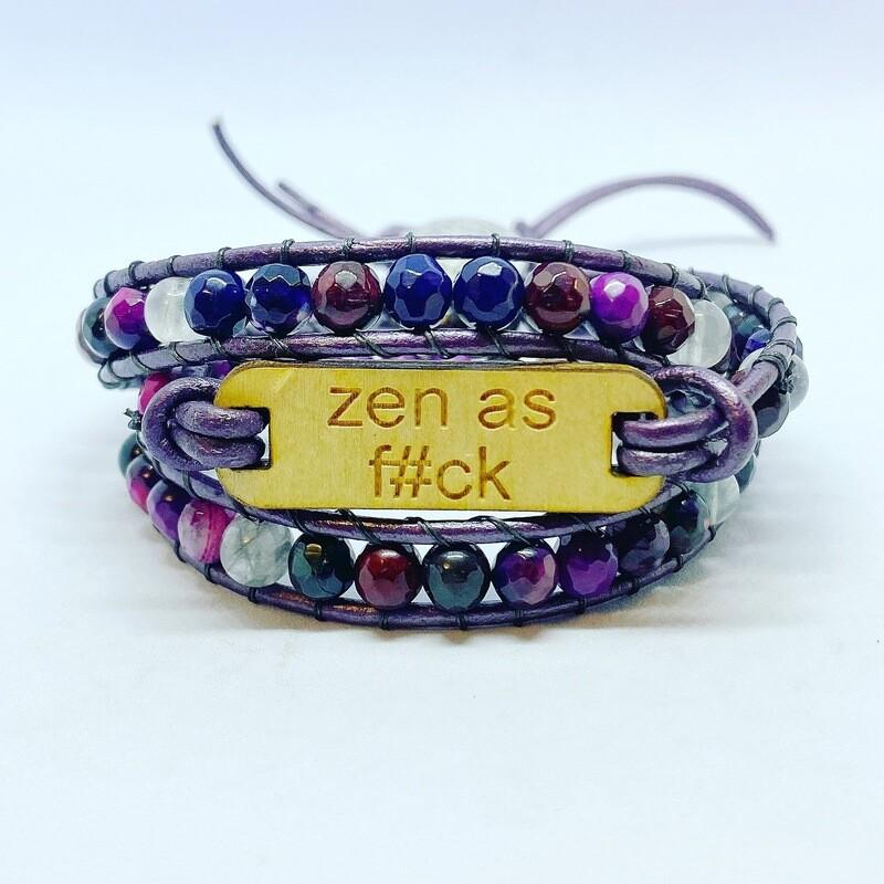 Zen As F Agate Quartz Wrap Bracelet