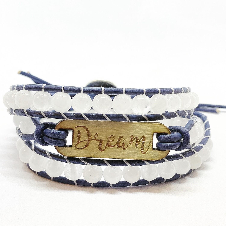 Dream White Jade Wrap Bracelet