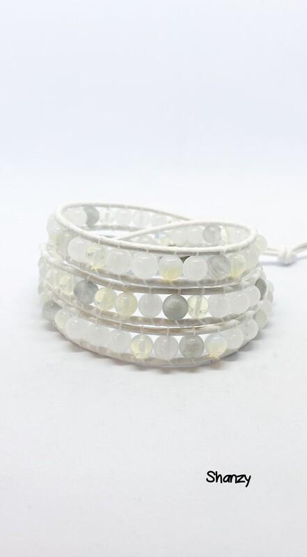 Opalite Quartz Wrap Bracelet