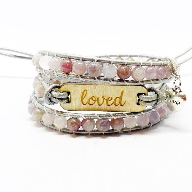 loved Lepidolite Wrap Bracelet