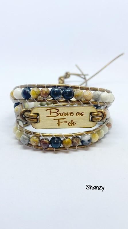 Brave As F*ck Wrap Bracelet