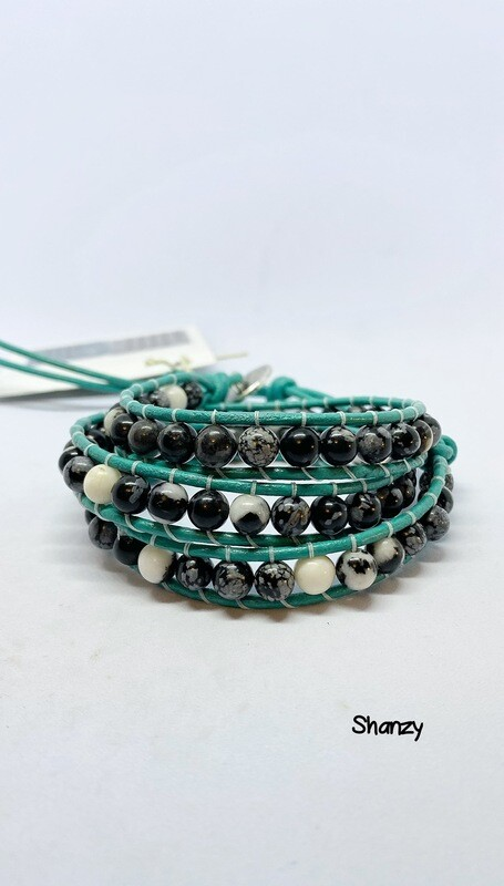 Zebra Jasper Wrap Bracelet
