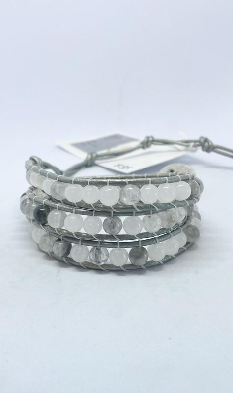 Quartz Jade Wrap Bracelet