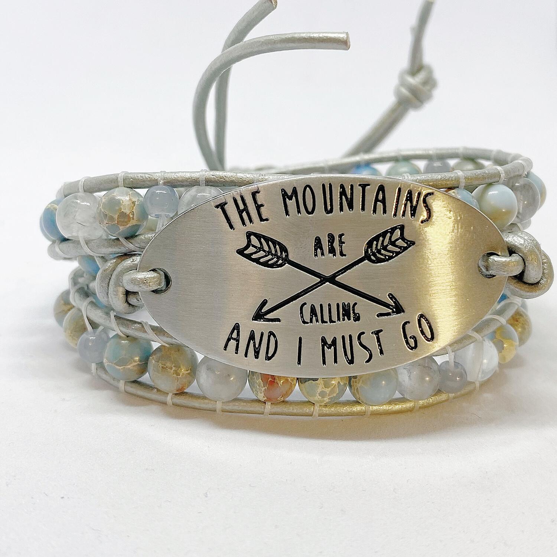 Mountains Are Calling Wrap Bracelet Sea Sediment