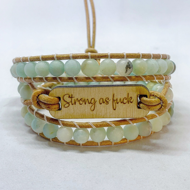 Amazonite Wrap Bracelet Strong As F