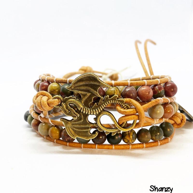 Dragon Bloodstone Wrap Bracelets