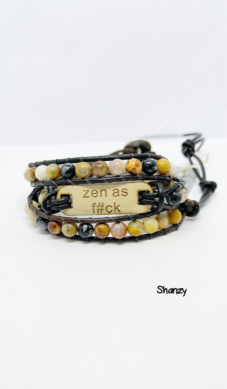 Zen As F Crazy Lace Agate & Snowflake Obsidian