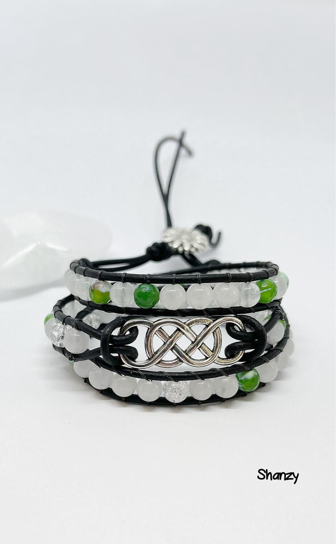 Jade Agate Wrap Bracelet