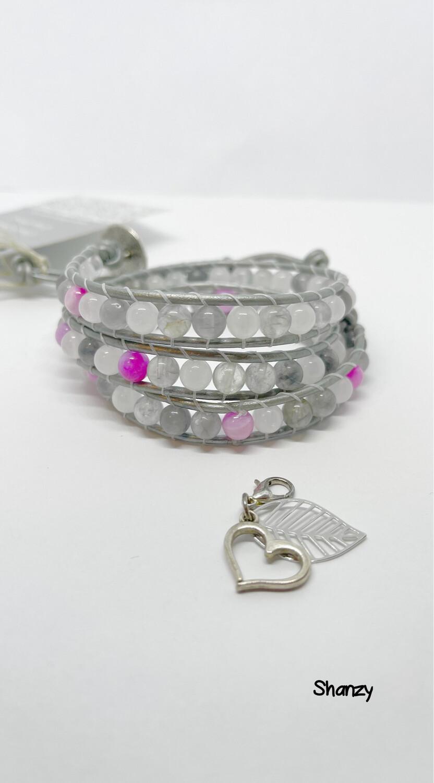 Quartz & Agate Wrap Bracelet
