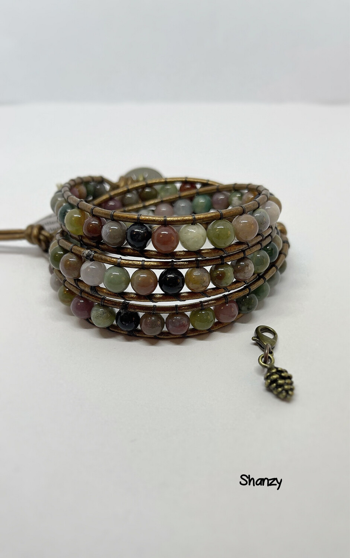Fancy Jasper Wrap Bracelet