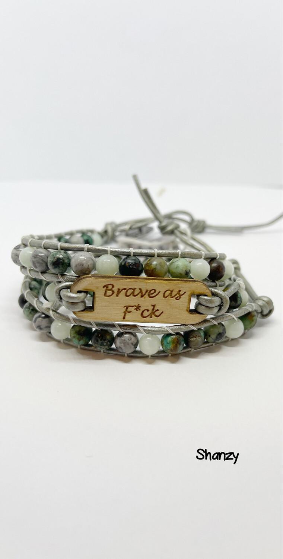 African Turquoise & Amazonite Wrap Bracelet