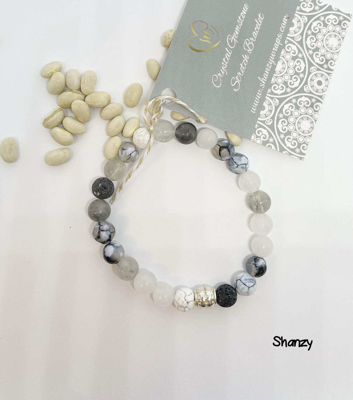Agate, Jade & Quartz Stretch Bracelet