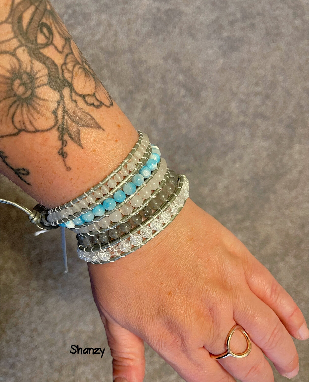 Quartz, Agate & Jade Wrap Bracelet