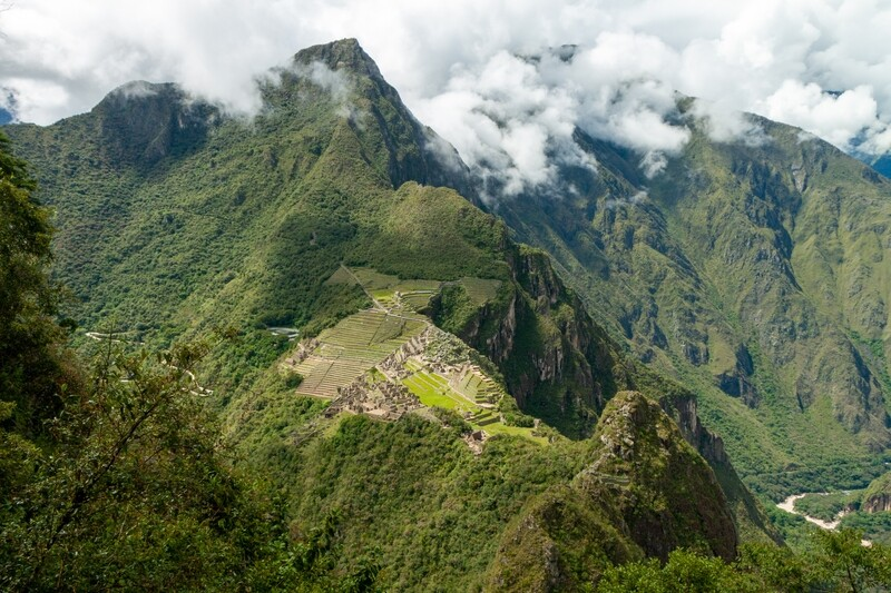Wayna Picchu Mountaintop View Canvas Print and Lindt Chocolate Truffles