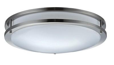 Skylar Series - Fluorescent ceiling - Nickel Finish - 3 sizes