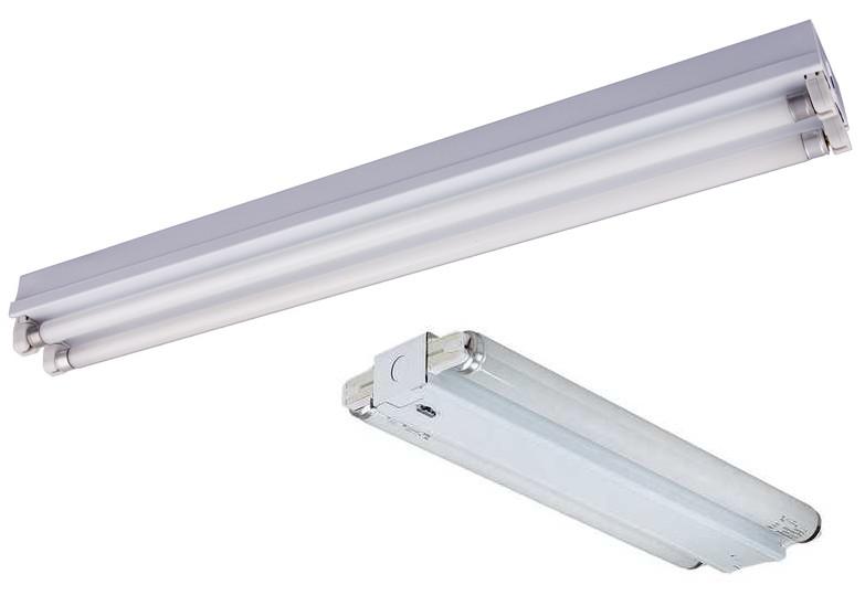 Open Channel Fluorescent Strip Lights