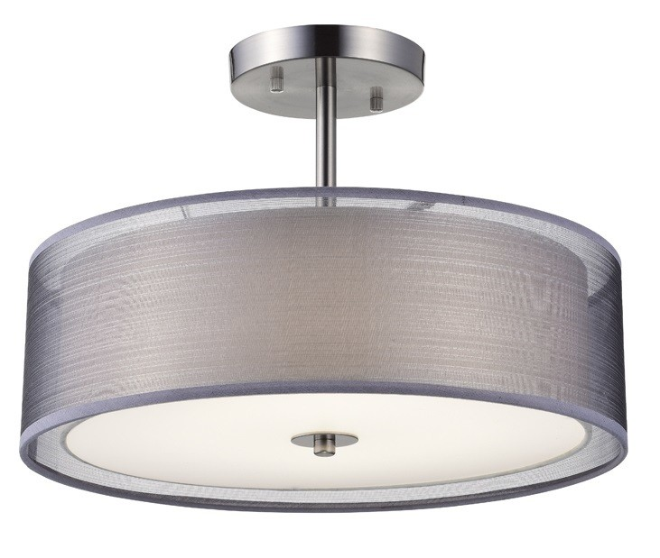 Xenia Pendant - DC8-PD Series - Tablet Style round LED surface mount light - 2 sizes