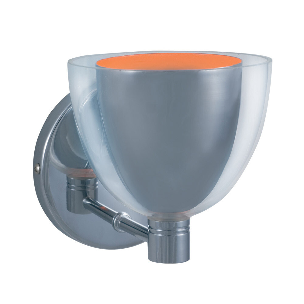1-Light Wall Sconce LINA - Series 215 - Chrome & Orange