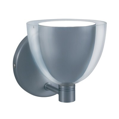 1-Light Wall Sconce LINA - Series 215 - Chrome & White