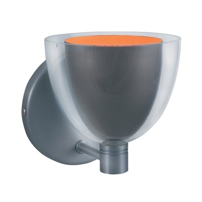1-Light Wall Sconce LINA - Series 215 - Gun Metal & Orange
