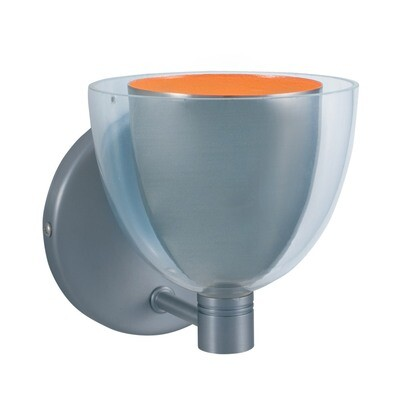 1-Light Wall Sconce LINA - Series 215 - Satin Nickel & Orange