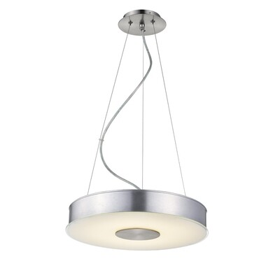 Tanya Pendant - DC22 Series - Fiber linen shaded, round LED surface mount light - 2 sizes