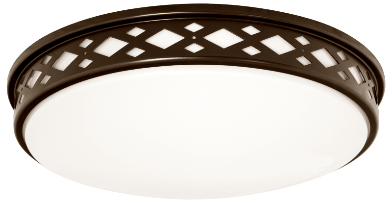 Lattice Series - Diamond shaped lattice round LED surface mount light - Bronze Finish - 3 sizes available