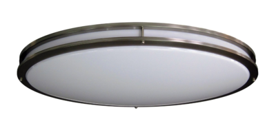 LED-JR005NKL -  Sleek Oval Skylar LED ceiling fixture -  Brushed Nickel finish - Dimmable