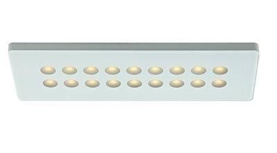 LED TASKLIGHT -LEDSQT18, 12V LED Single rectangular light - Black or White