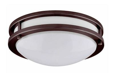 Skylar Series - Twin Ring round LED surface mount light - Bronze Finish - 3 sizes available