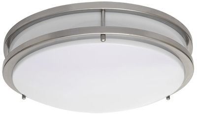 Skylar Series - Twin Ring round LED surface mount light - Satin Nickel Finish - 3 sizes available