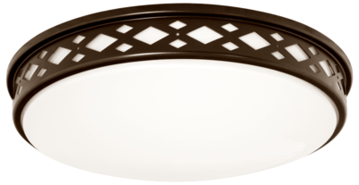 Lattice Series - Round LED surface mount light - Bronze - 3 sizes