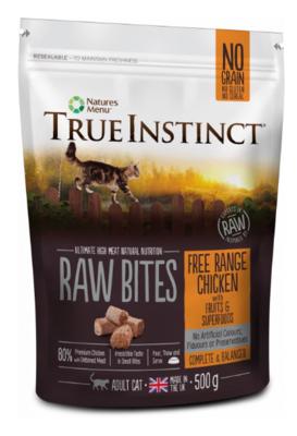 True Instinct Raw Bites - Free Range Chicken Cat Food (500g)
