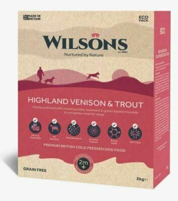 Wilsons Cold Pressed Highland Venison & Trout (2kg)
