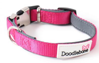 Doodlebone Extra Large Padded Collar (Pink)
