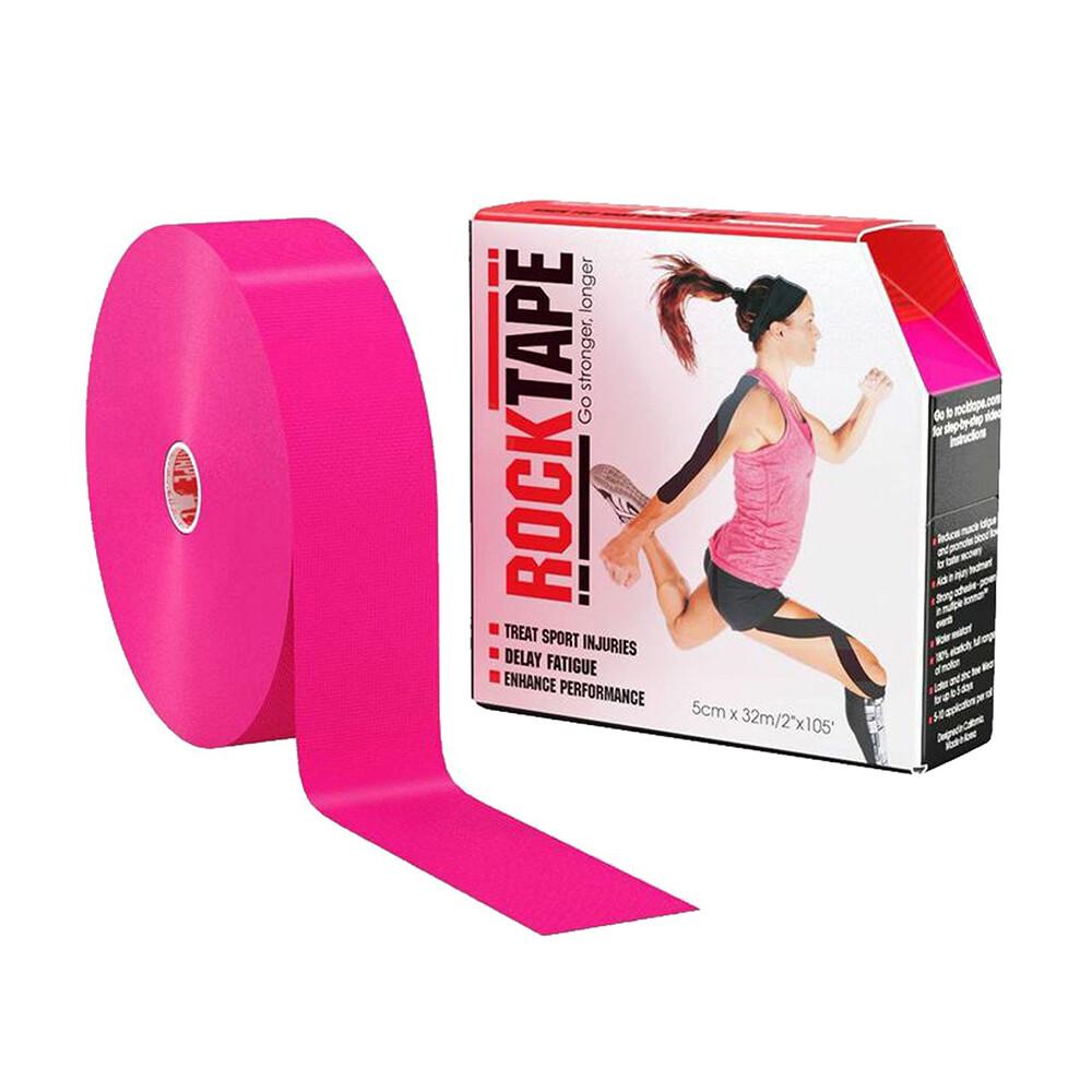 Кинезио тейп RockTape - розовый 32м х 5см