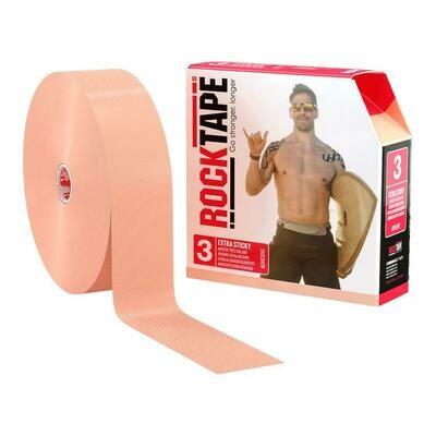 Кинезио тейп RockTape Extra Sticky - телесный 32м х 5см - Экстра сильный