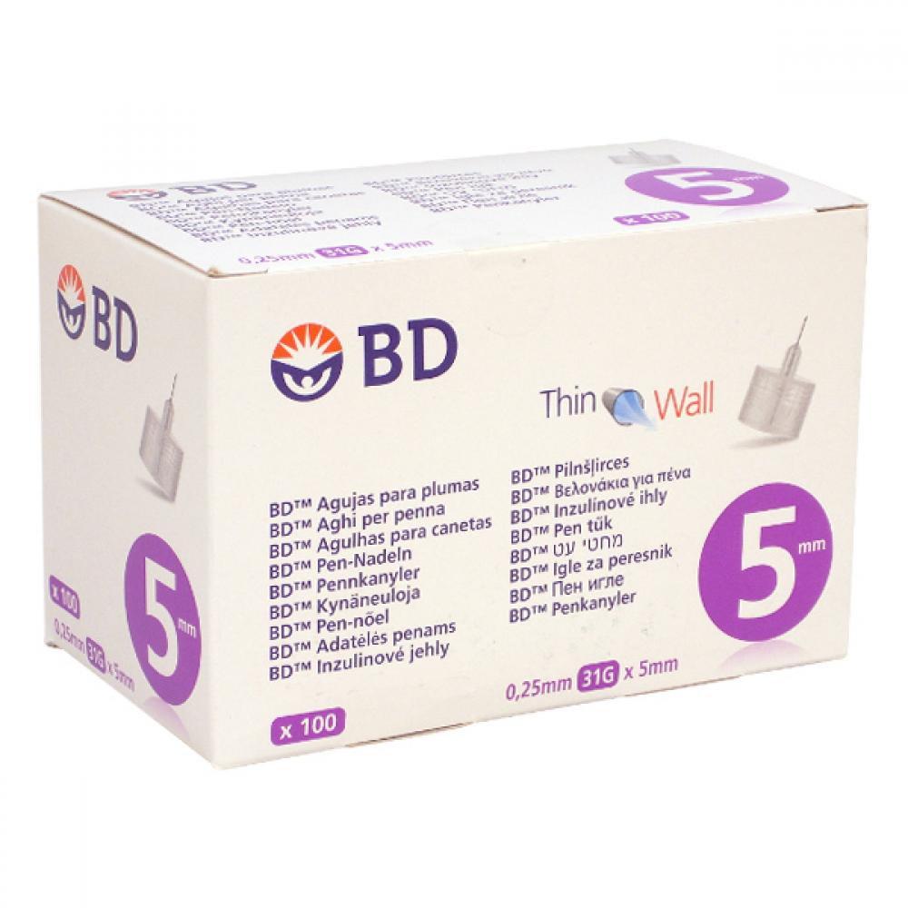 Иглы для шприц-ручек BD 0.25x5mm (31G) 100 шт