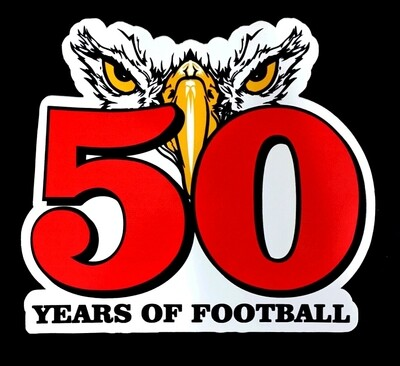 50 Years of Vilonia Football Decal