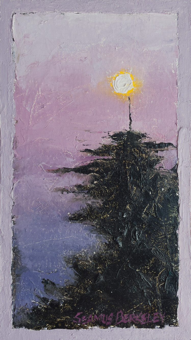 'Full Moon above Tree' Painting