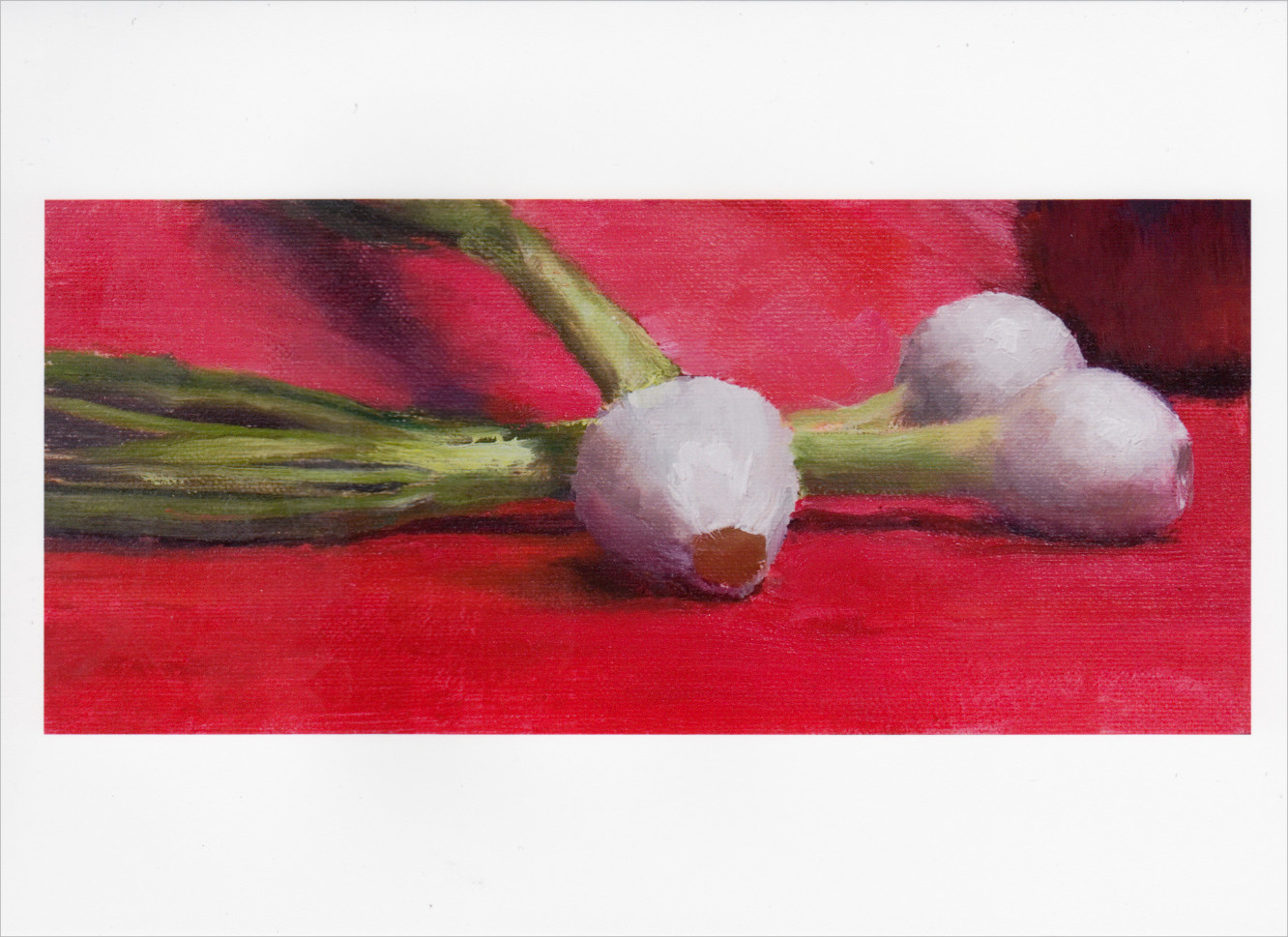 'Three Scallions' Notecard