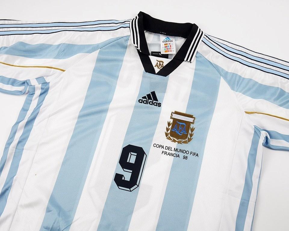 ARGENTINA WORLD CUP 1998   MAGLIA CASA COPPA DEL MONDO 1998  JERSEY HOME ARGENTINA
