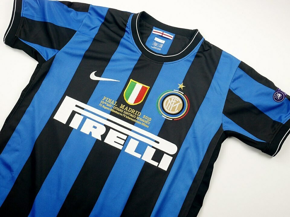 INTER FINALE MADRID 2010 JERSEY FINAL CHAMPIONS