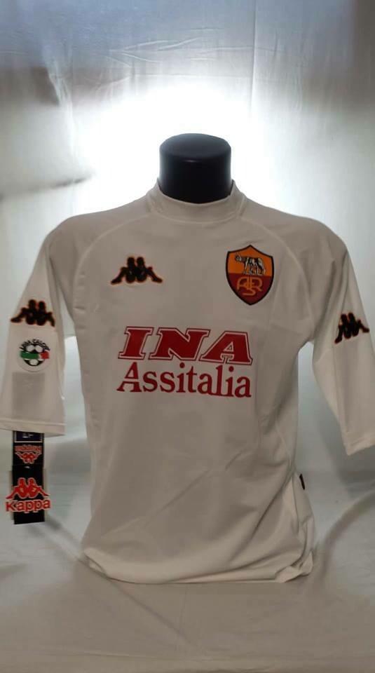ROMA MAGLIA TRASFERTA JERSEY AWAY  WHITE 2001 2002