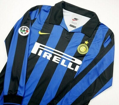 INTER MAGLIA CASA JERSEY HOME 1998 1999 MANICHE LUNGHE LONG SLEEVES