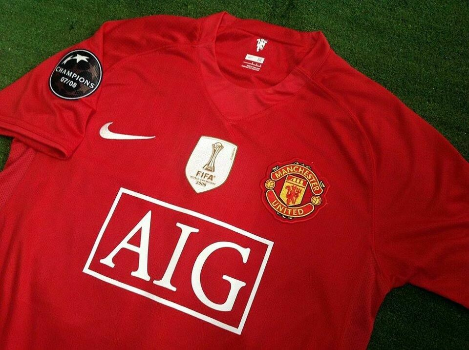 MANCHESTER UNITED MAN UTD JERSEY HOME MAGLIA CASA  FIFA  WORLD CUP 2008  FIFA  WORLD CUP 08